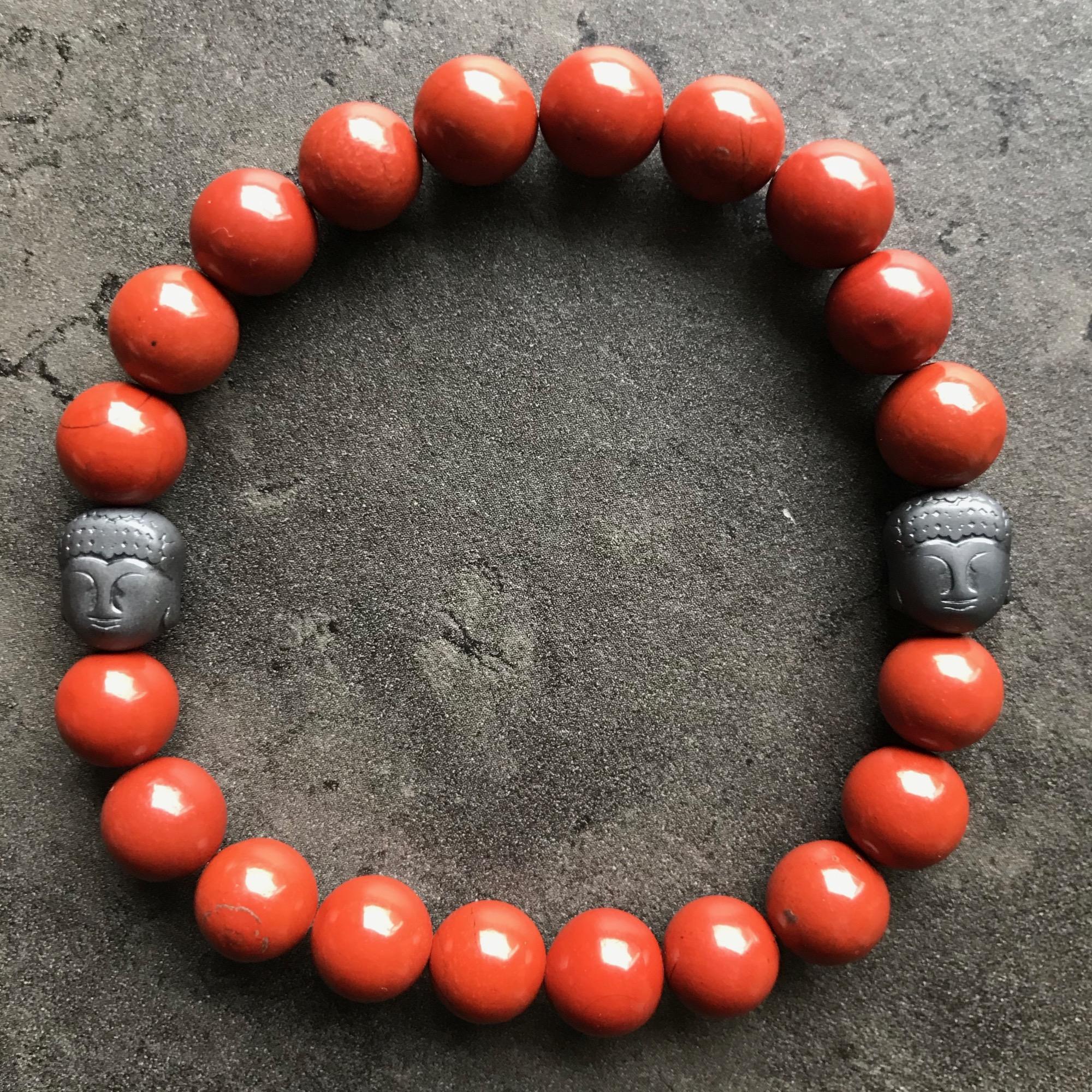 Jaspe rouge Bouddha